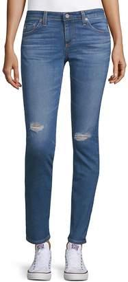 AG Adriano Goldschmied Women's Skinny Rip Jeans - 17 Years Bluejay, Size 30 (8-10)