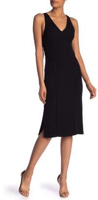 Jason Wu Grey Stretch V-Neck Sleeveless Dress