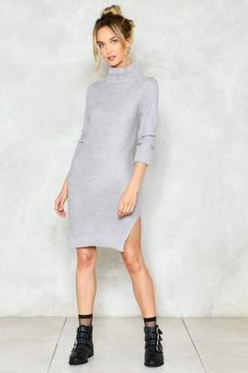 Nasty Gal Warm Up Turtleneck Sweater Dress