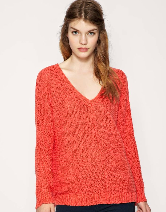 Free People Oversize Exposed Seam Knit