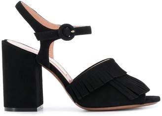 L'Autre Chose fringed heeled sandals