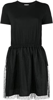 RED Valentino netted-skirt T-shirt dress