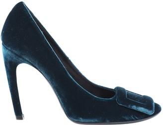 Roger Vivier Green Velvet Heels