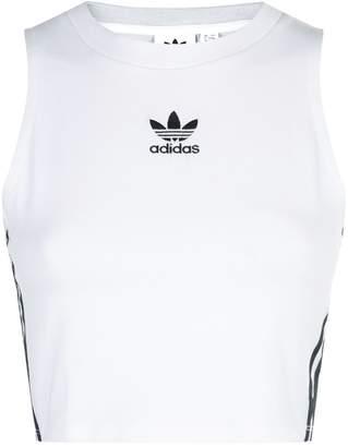 adidas Crop Logo Tank Top