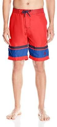 U.S. Polo Assn. Men's Color-Block Microfibre Swim Shorts