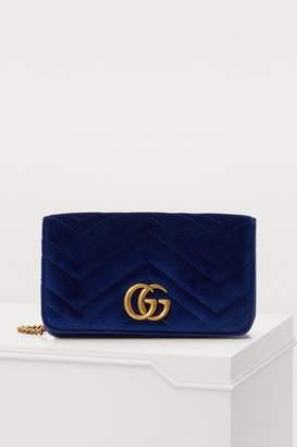 Gucci GG Marmont velvet supermini bag