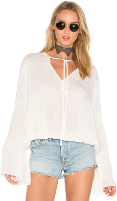 C & C California Bijoux Shirred Blouse $118 thestylecure.com