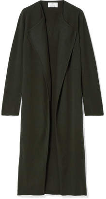Allude Wool And Cashmere-blend Cardigan - Army green