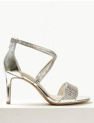 Marks and Spencer Extra Wide Fit Stiletto Heel Diamanté Sandals
