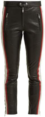 Etoile Isabel Marant Aya cropped leather trousers