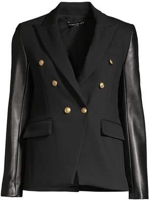 Generation Love Enzo Leather Sleeve Blazer