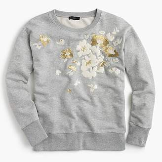 J.Crew Embroidered flower sweatshirt