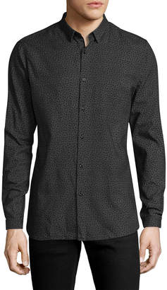 The Kooples Printed Point Collar Sportshirt