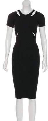 Jonathan Simkhai Textured Short Sleeve Midi Dress
