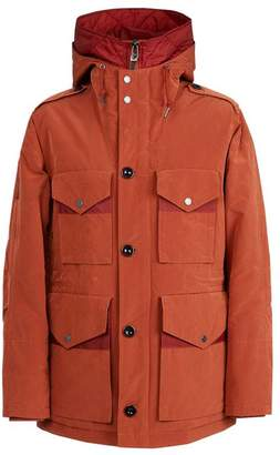 Pretty Green Button Up Padded Jacket