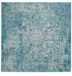 Safavieh Evoke Frieze Square Blue Rug