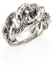 John Hardy Classic Chain Small Hammered Sterling Silver Link Ring $395 thestylecure.com