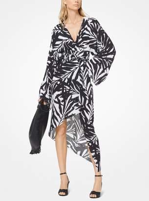 Michael Kors Palm Silk-Georgette Kimono Dress