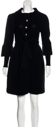 Alice + Olivia Knit Belted Coat