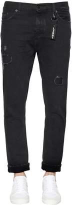 The Kooples 17.5cm Painted & Destroyed Denim Jeans