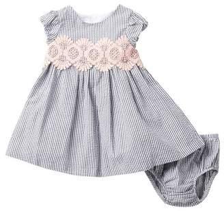 c22489de97ba Iris   Ivy Smocked Seersucker Dress (Baby Girls)