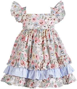 9d09474bf2f4 Bonnie Baby Baby Girls Multicolor Floral-Print 3-Tiered Dress