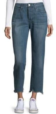3x1 Cropped Cotton Boyfriend Jeans