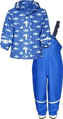 Playshoes Boy's Waterproof Rainsuit Sharks Raincoat,(Manufacturer Size:104)