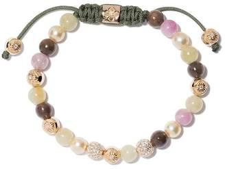 Shamballa Jewels 18kt yellow gold, diamond & sapphire beaded Non-Braided bracelet