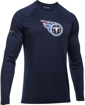 Under Armour Unbranded Men's Navy Tennessee Titans Combine Authentic Primary Logo Tech Long Sleeve T-Shirt
