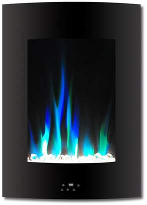 Cambridge Silversmiths 19.5 Vertical Electric Fireplace, Black