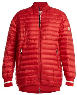 Moncler Charoite Quilted Down Bomber Jacket - Womens - Red