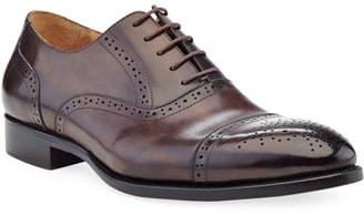 Ike Behar Men's Brogue Leather Oxford Shoes