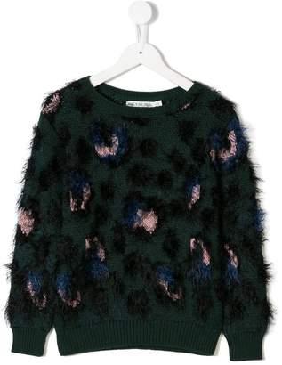 Noë & Zoe leopard pattern jumper