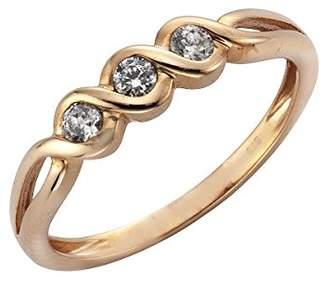 Celesta Ellen K. Women 8 k (333) Rose Gold Zircon Rings