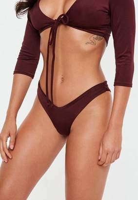 Missguided Burgundy Boomerang Brief