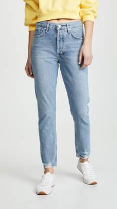A Gold E Agolde High Rise Jamie Classic Jeans