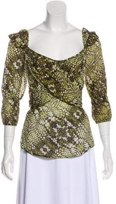 Just Cavalli Long Sleeve Printed Top