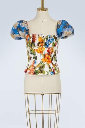 Dolce & Gabbana Bamboo print bustier