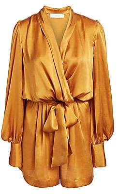 Zimmermann Women's Silk Wrap Playsuit