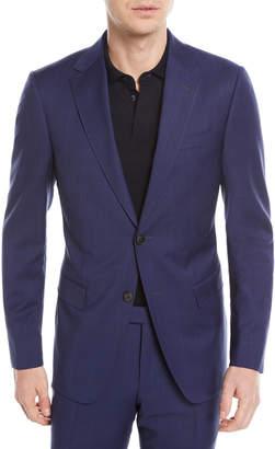 Ermenegildo Zegna Tonal Plaid Wool Two-Piece Suit