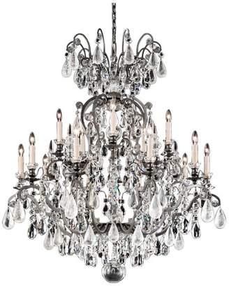 Schonbek Renaissance Rock Crystal 16-Light Chandelier in Antique Pewter