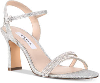 Nina Avalon Embellished Ankle-Strap Evening Sandals Women's Shoes