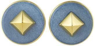 Hermes Médor leather earrings