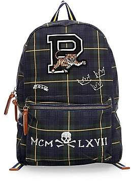 56b0b78056 Polo Ralph Lauren Men s Embroidered Patch Check  Plaid Backpack