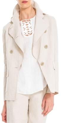 Max Studio Cotton And Linen Doubleweave Jacket