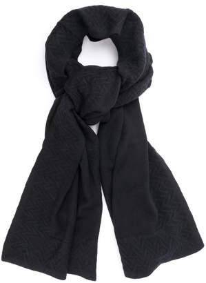 Quinn Chevron Knit Cashmere Scarf