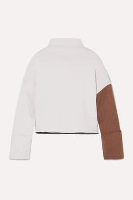 REJINA PYO Parker Color-block Ribbed-knit Turtleneck Sweater