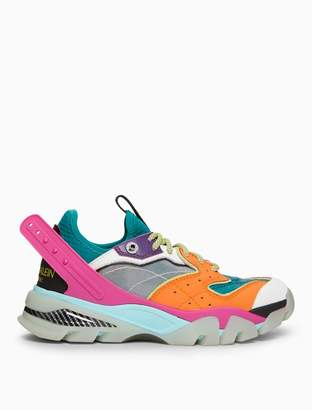 Calvin Klein Carla 10 lace-up athletic sneaker in nappa leather + mesh