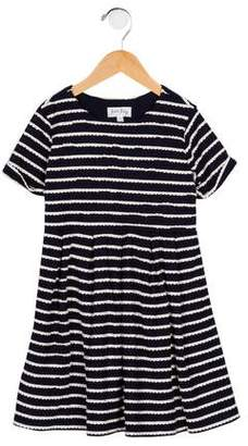 Rachel Riley Girls' Pleated Striped Dress
